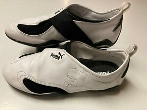 Puma Libra Wn's White Black Slip on Running Shoes Women's Size 8.5 342503 07