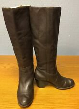 Micheal Kors Womens Soft Brown Leather Slip-on Tall Boots Sz 7 M