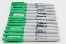 12 Sharpie Permanent Marker Pens Fine Green