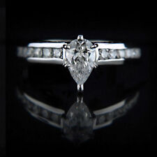 White Gold Very Good SI1 Solitaire with Accents Fine Diamond Rings