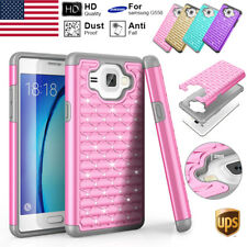 For Samsung Galaxy On5 G550 T-Mobile Shockproof Armor Brushed Hard Case Cover