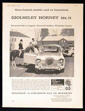 WOLSELEY HORNET MK. II 1963 Horse and Jockey BRITISH ADVERT