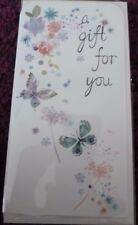 1 x MONEY*VOUCHER*CARD & ENVELOPE*BIRTHDAY*THANK YOU*A GIFT FOR YOU*BUTTERFLIES