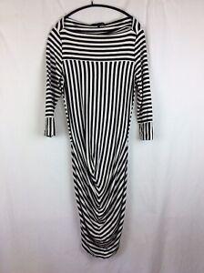 Kate Moss X Topshop Breton Black And White Stripe Jersey Dress. Size 10.