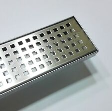 1500mm Long Mesh SS Linear Shower Bathroom Grate Drain Waste 2mm Thick WATERMARK