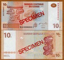 SPECIMEN, Congo D.R. 10 Francs, 2003, P-93s, UNC