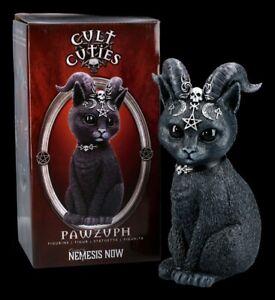Okkulte Katzenfigur mit Hörnern - Pawzuph groß - Nemesis Now Fantasy Kätzchen