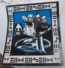 311 STICKER COLLECTIBLE RARE VINTAGE 90's METAL LIVE WINDOW DECAL