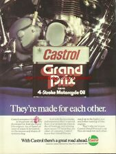 Castrol Grand Prix Motor Oil Motorcycle 1976 Mag Advert #742
