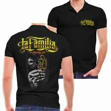 POLO Shirt La Familia is watching Jail blood Support criminal spruch oldschool