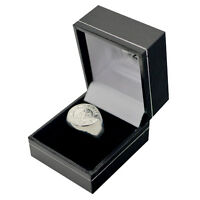 OFFICIAL CHELSEA FC SILVER PLATED CREST RING S,M,L SIZE IN GIFT BOX NEW XMAS