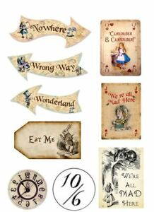 Alice In Wonderland Edible Print Decor for Themed Cake Icing or Wafer