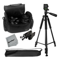 "Pro 60"" Tripod with Deluxe Camera Case Bag for Nikon D3100, D3200, D3300 Cameras"