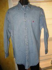 Vintage Ralph Lauren Brand Denim Shirt L Embroidered Polo Logo