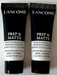 2 x Lancome Prep & Matte Refreshing Matifying Hydrating Makeup Primer 10 ml New