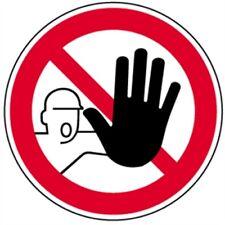 Schild Verbotschild Zutritt für Unbefugte verboten 10cm Ø PVC