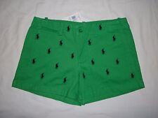 NWT,Ralph Lauren Sport Polo Pony Logo Twill Chino Beach Golf Mini Shorts-SIZE- 2