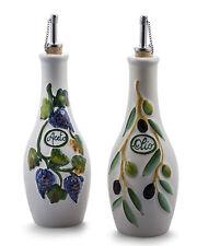 Bassano Oliven Essig & Öl Set Aceto e Olio Ausgefallene italienische Keramik 0,5