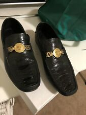 Versace Medusa Ostrich Car Shoe Loafers  41 Mens