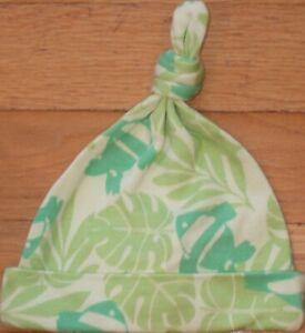NEW Vintage Green GAP Tropical Hawaiian FISH Knot BEANIE Cap HAT NB 3-6 mo NWT