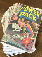 Marvel Comics Power Pack Huge lot of 55 Comics from V1 1984 Includes #1