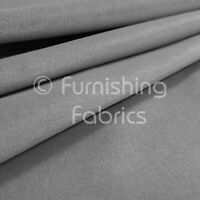 10 Metres Of Soft Hard Wearing Fine Blended Chenille Silver Upholstery Fabric