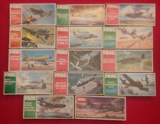 FROG Set of 14 Airoplane Model Kits 1/72 - Green & Red series - From 1970's