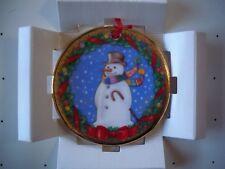 Vintage Royal Doulton Bone China Christmas Ornament Snowman Carol Lawson New