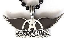 AEROSMITH Wings  Pewter Pendant on Black Ball Chain   BPC 033 blk