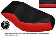 BLACK & RED AUTOMOTIVE VINYL CUSTOM FITS HONDA HELIX CN 250 DUAL SEAT COVER