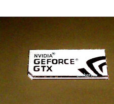 1x  NVIDIA GeForce GTX computer 7 Silver sticker PC Genuine Desktop laptop Base