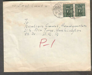 Indonesia 1954 cover Djakarta to Aviation Cadet HQ US Air Force Washington DC