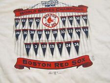 Boston Red Sox Vintage 2004 World Series Champions White T-Shirt XL MLB