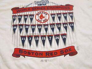 Boston Red Sox Majestic Vintage 2004 World Series Champions White T-Shirt Large
