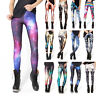 Womens Print Leggings Sports Yoga Workout Gym Fitness Running Stretch Trousers