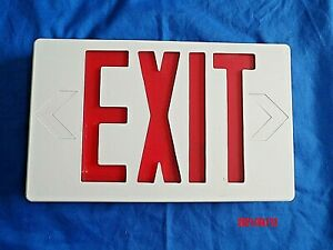 NEW Emergency Exit LED Light Sign~UL924 Red Letter~You Choose Arrow & Mounting