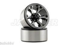 "Jazrider Aluminum 1.9""Beadlock 6-Spokes Wheels(C) 2pcs For RC Crawler SCX10/CC01"