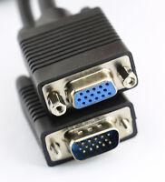 2m Câble Rallonge VGA SVGA PC Moniteur Cordon Mâle vers Femelle Tv Plasma Ecran
