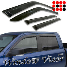 10-15 Dodge Ram 2500/3500 Crew Cab WINDOW SUN SHADE RAIN GUARD VISOR DEFLECTOR