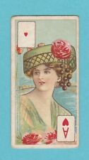BEAUTIES  -  WILLS  SCISSORS  -  BEAUTIES PLAYING CARD - ACE OF HEARTS - 1911