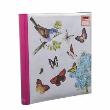 5 x 7'' Large Butterfly Cream Memo Photo Album for 200 Photos Best Gift