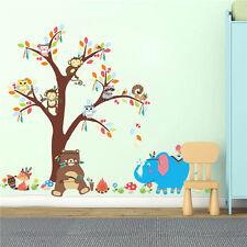 USA Animals Tree Monkey Owl Vinyl Removable Wall Decal Stickers Kid Room Decor