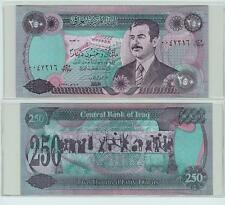 Rare Saddam's Money 250 Dinar Note P85- 5 Pack - Free US Shipping !!!!