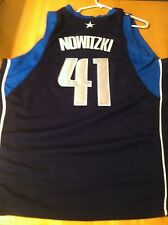Dirk Nowitzki # 41 Dallas Mavericks Blue Road Jersey Sz 52 XXL Adidas with Tags