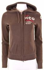 HOLLISTER Womens Hoodie Sweater Size 14 Medium Brown Cotton  LH04