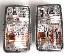 Turn signal indicator lights set pair Crystal-White fits NISSAN Patrol 1995-1997