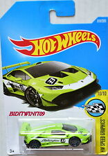 HOT WHEELS 2017 HW SPEED GRAPHICS LAMBORGHINI HURACAN LP 620-2 SUPER TROFEO LIME