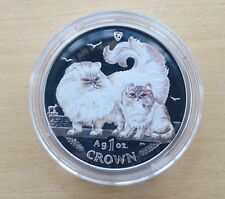 2009 Chinchilla Cat 1 Crown Silver Proof Coin - Isle of Man