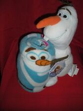 """DISNEY FROZEN HUGGER OLAF CHARACTER PILLOW AND PLUSH THROW 40"""" X 50"""" SET NEW W/T"""