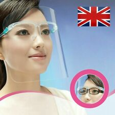 Premium Anti Fog Full Face Shield Clear Reusable Cleanable Face Guard PPE